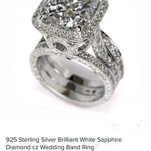 💎STERLING SILVER CZ BEAUTIFUL WEDDING RING 💍